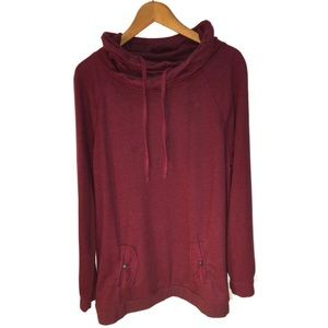 Relativity Burgundy Sweatshirt Size XL